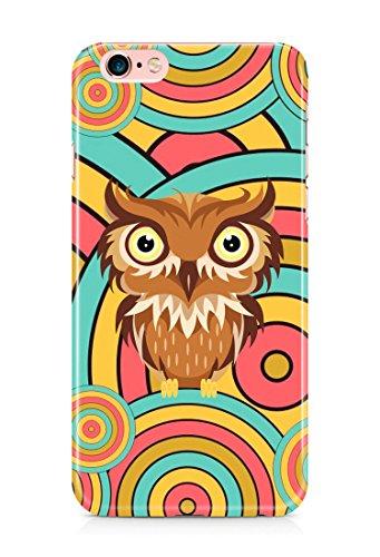 Colorful unique new owl 3D cover case design for iPhone 7Plus 8