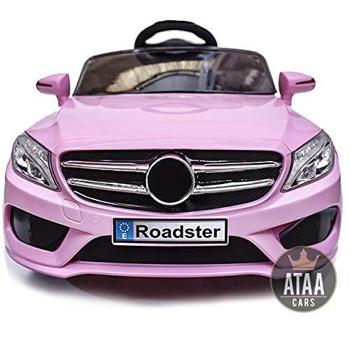 Coche eléctrico niños 12v con mando estilo mercedes SL Roadster - Rosa