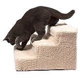 Escaleras Portátiles De Mascotas con Easy Step para Gatos Perros o Conejos para Subir o Bajar, Incluye una Funda de Pelusa para Protegerlos, 35 x 45 x 30 cm