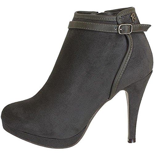Refresh Shoes , Coupe fermées femme Noir - Graphite