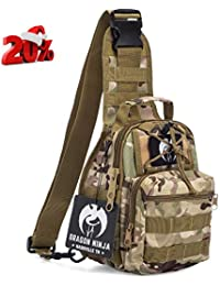3ec86308f1 Dragon Ninja Tactical Sling Bag for Men and Women Premium Backpack Military  Sport Daypacks for Carrying EDC Camping Hiking and Travel…