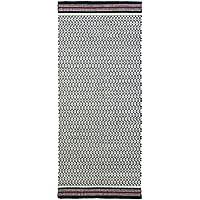 Jute & Co Firenze Alfombra Tejido A Mano, 100% algodón, blanco/rojo, 220x 60x 0.5cm