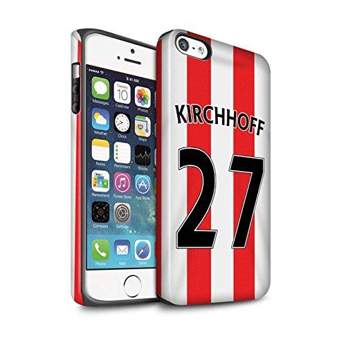 Offiziell Sunderland AFC Hülle / Matte Harten Stoßfest Case für Apple iPhone 5/5S / Pack 24pcs Muster / SAFC Trikot Home 15/16 Kollektion Kirchhoff