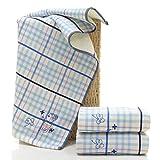 XXIN Baumwollhandtuch/Handtuch/ 32 Stränge Farbigen Handtuchring Baumwolle/Blau/ 34 * 76Cm