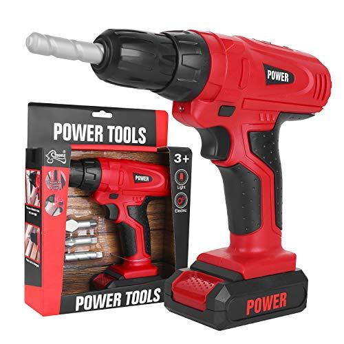 Toy Tool, Kids Construction Spielzeugbohrer für Kleinkinder Kids Elektrowerkzeug-Bohrerset Boys Toy Work Shop Tools