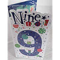 Boys Age 9 Birthday Card with Colour Insert 9TH (PRELUDE)