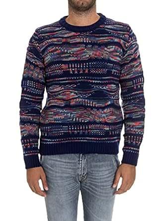 3cb6ee273de19 Missoni Maglione Uomo 5373332481 Cashmere Blu  Amazon.it  Abbigliamento