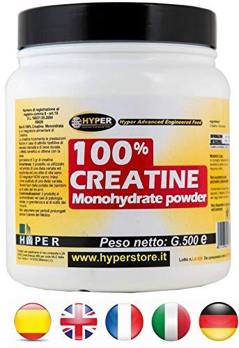 Creatina in polvere gr 300 monidrato monoidrata aumento massa muscolare energia forza resistenza preworkout integratori bodybuilding ciclismo 100% creatina hyper