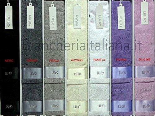 Liu jo casa home coppia asciugamani con balza in raso colore parma lb256w  cm. 60x110 9a3a86cbd26