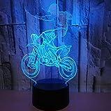 Moto Acrobazia 3D Acrilico Luce notturna a LED 7 Cambio colore Camera da letto per bambini Accanto ad Illuminazione notturna Lampada da tavolo Regalo Bluetooth Controllo del ragazzo