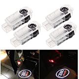 BSVLIA Car Door Proiettore Logo Ghost Shadow Light 4 Pack LED Auto Door Courtesy Step Proiettore Luci per A1 A3 A4 A5 A6 A8 A6L A4L R8 TT Q7 Q5