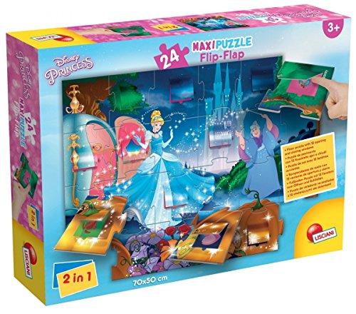 Unbekannt Lisciani Spiele 48441-Cinderella Puzzle Maxi Flip Flap, 24Stück