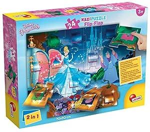 Lisciani Giochi 48441-Cenicienta Puzzle Maxi Flip Flap, 24Unidades