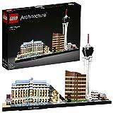 LEGO Architecture - Las Vegas, Set de Construcción del Skyline de la ciudad, Incluye Maquetas de los Hoteles Bellagio, Luxor y Encore (21047)