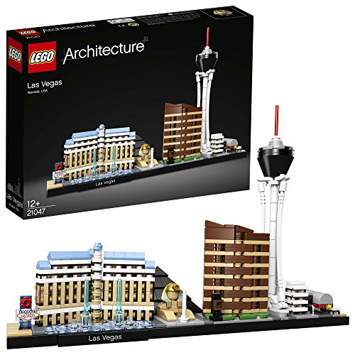 LEGO 21047 Architecture Las Vegas Model Building Set with Stratosphere Tower, Bellagio Hotel and Luxor Hotel, Skyline Collection, Construction Collectible Gift Idea Best Price and Cheapest