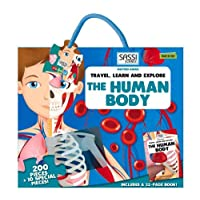 "Sassi ""The Human Body"" 200 pieces Puzzle and Book (Travel, Learn, & Explore)"