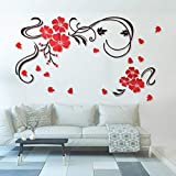 150 cm X 90 cm 3D Acryl Gespiegelt Dekorative Aufkleber Blume Reben Tv Hintergrund Art Deco...