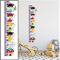 Fairies Height Growth Chart Wall Stickers 01 Children Bedroom Decor Art Decals - REMOVABLE Vinyl Nursery Kids Room Wall Art Printed Stickers Home Décor Kindergarten Wall Decoration