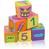 Ysoom Stoffwürfel (6er-Pack) - Stoff-Spielzeug für Babys Kleinkinder - Würfel Stoffspielzeug Plüschtiere Tier Frühkindliche Bildung