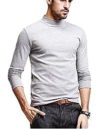 DENIMHOLIC Men's Cotton Full Sleeve Classic High Neck T-Shirt