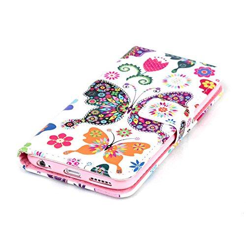PU Cuir Coque Strass Case Etui Coque étui de portefeuille protection Coque Case Cas Cuir Swag Pour Apple iPhone 6/ iPhone 6S (4.7 pouces)+Bouchons de poussière (Y7) 6