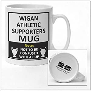 Wigan Athletic football club supporters rival team joke funny new and easy office Tea and Coffee Mug gift