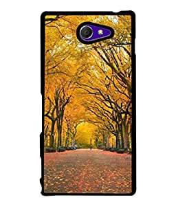 PrintVisa Designer Back Case Cover for Sony Xperia M2 Dual :: Sony Xperia M2 Dual D2302 (Trees Shedding Leaves Beautiful Design)