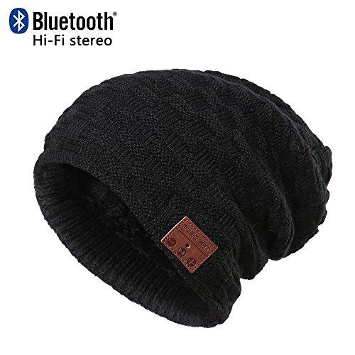 CoCo Fashion Waschbare Bluetooth Beanie Hut Musik Cap mit Wireless Stereo Bluetooth Kopfhörer 4.2 In Ear Kopfhörer Headset für Sport & Outdoor, kompatibel mit Iphone Android Handys Telefone Mit Bluetooth