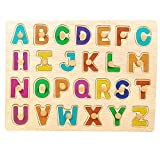 GoodLuck Baybee Kids Wooden Alphabet Puzzle Board Wooden Capital Letters (ABC) Puzzles Educational