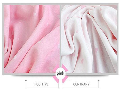 Baby Woolen Decken Neugeborene Abdeckung Decke 4 Schicht Baumwollgarn Drucken Handtücher Bambusfaser Gaze Decken,Pink-47.2*39.4in