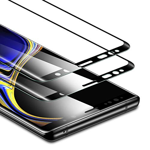 ESR Protector Pantalla Samsung Note 9, Cristal Templado [2 Piezas][Cobertura de Pantalla Completa] Protector de Pantalla [Compatible con S Pen] 9H Dureza Resistente a Arañazos Compatible para Samsung Galaxy Note 9 (2018)