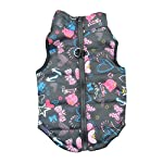 Doggie Style Store Black Heart Bow Dog Pet Puppy Puffer Warm Winter Padded Quilted Vest Coat Jacket Size XS 5