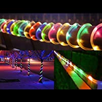 LED Guirnalda, KINGCOO® etanche 39ft 12m 100LED Conduit con energía solar manguera tubo Rope alambre de cobre de Navidad étoilées de luces para la boda Outdoor Garden Party, Multi-Couleurs
