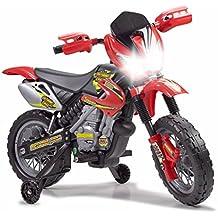 FEBER 6V Motorbike Cross, 400F, 6 V, Color Negro, Gris, Rojo