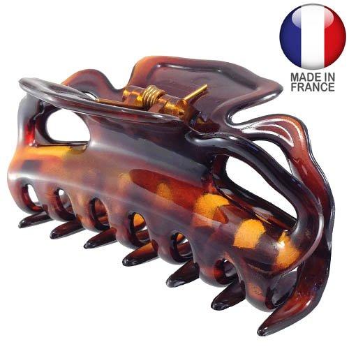214 – 003 – Pince pour cheveux français cm 9 – Tortue – Pinces pour Cheveux