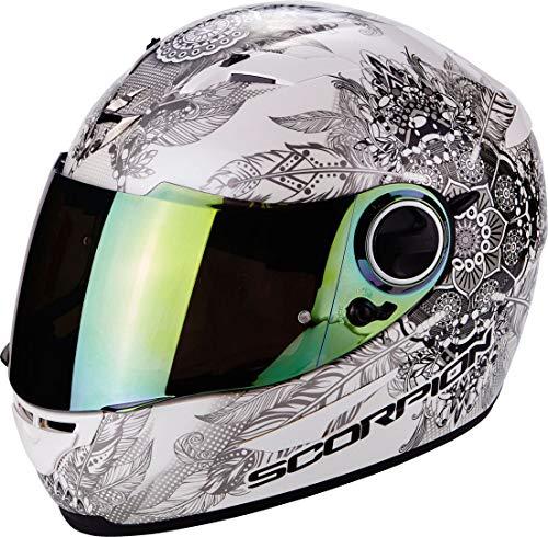 Scorpion Casco Moto EXO-490 Dream, White/Chameleon, S