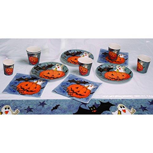 Boland 74480 - Tisch-Set für Halloween Pumpkin & Friends - Orange
