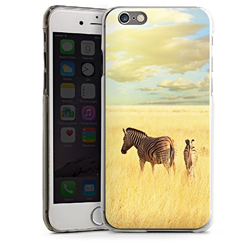Apple iPhone 5s Housse Étui Protection Coque Zèbre Afrique Steppe CasDur transparent
