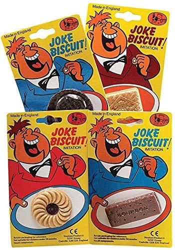 oween-party Funny Dekorativ Künstlich Scherzartikel Gefälschte Kekse - Jammy Dodger, One size ()