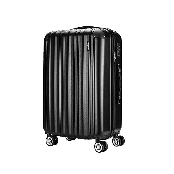 eda191a9e7b6 Sunydeal ABS Hard Shell Luggage Super Lightweight Waterproof Travel Bags 4  Wheel Spinning Suitcase 20″