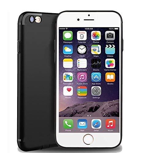casehq iPhone 7(11,9cm) Fall, iPhone 8(11,9cm) Fall [Ultradünn] & [Soft Touch] Slim Fit Premium Matt TPU Rubber Protect Cover für iPhone 7/8(11,9cm) schwarz (Kind Handys Att)