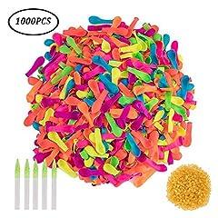 Idea Regalo - SIMUER 1000 Water Balloons Bombe da Acqua Palloncini Refill Kits Outdoor Party Giardino Giocattoli di divertimento