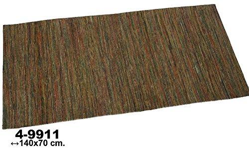 DonRegaloWeb - Alfombra rectangular de yute y viscosa jaspeada con múltiples colores