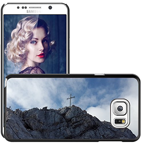 Case Carcasa Case Funda Case La // M00312038 Alpspitze Summit croce di vetta alpina // Samsung Galaxy Note 5 V (Not fit S5)