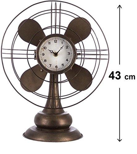 Horloge pendule originale à poser - Tête Hélice - Style Vintage - Coloris MARRON