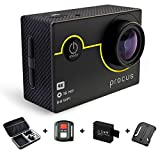 #4: Procus Rush | 23 Accessories Full Pack (Includes Bag + Remote+ 1 Extra Battery + Curved Mount) | 4K Sports Action Camera HD Waterproof DV Camcorder 16MP with WiFi