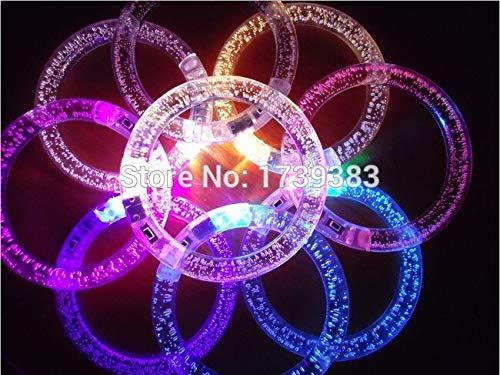 Fengdp Geben Sie buntes änderndes LED Armband des Schiffs 20Pcs frei, leuchten Sie Armband, das glühendes Armbandarmband der Acrylspielwaren-Partei-Versorgungsmaterialien blinkt (Freund Schiff Armbänder)