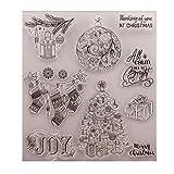 Fogun Weihnachtsgeschenk perfekt DIY Silikon Clear Stamp für Karte Machen Dekoration und Scrapbooking für Weihnachten Thanksgiving Geschenke