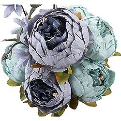 Houda - Ramo de flores artificiales vintage para decoración de boda