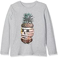 Quiksilver LS Classic tee YTH Hot Pineapp Camiseta de Manga Larga, niños, Gris (Highrise Heather), XL
